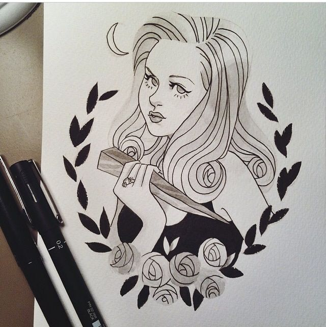 BUFFY SUMMERS (BUFFY THE VAMPIRE SLAYER) Tattoo Stencil Drawing
