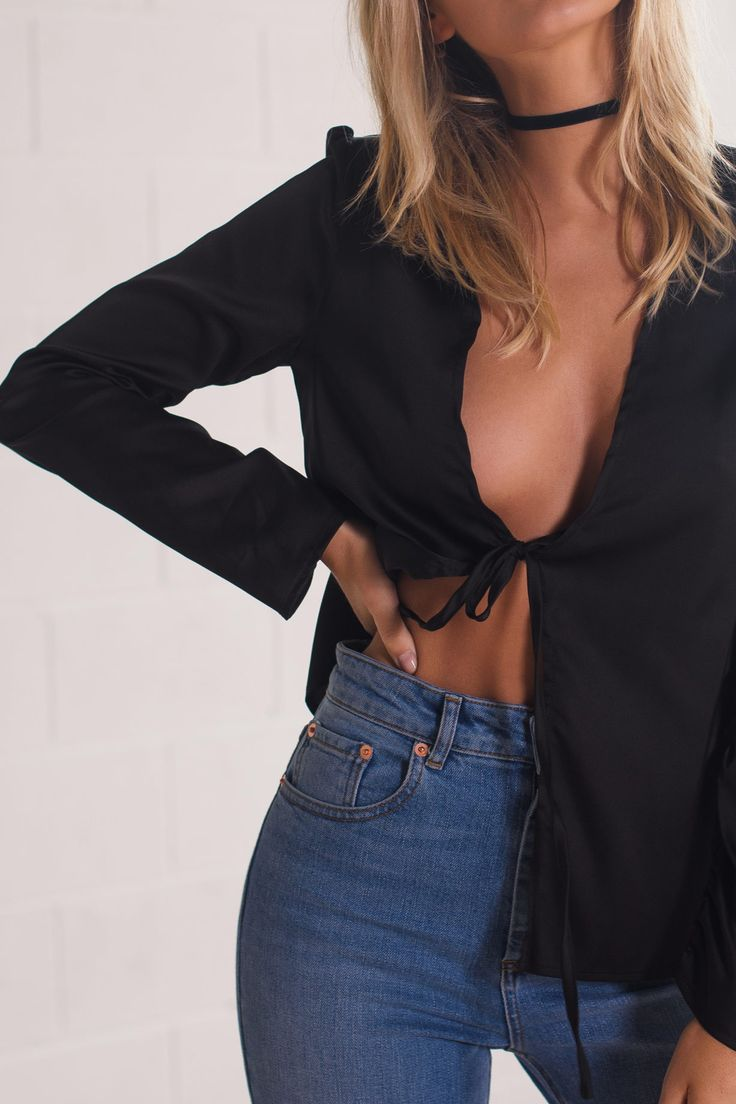Lou Lou Top | Black - Women's Clothing & Fashion Online – Style Addict