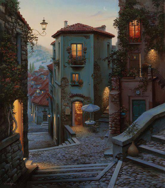 Campobasso, Italy (Painting) By Evgeny Lushpin