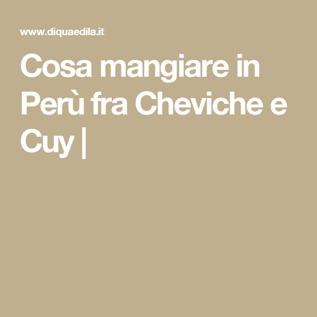 Cosa mangiare in Perù fra Cheviche e Cuy  