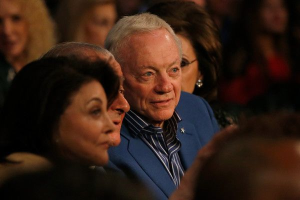 Jerry Jones Photos Photos - NFL Dallas Cowboys owner Jerry Jones sits ringside on April 9, 2016 at MGM Grand Garden Arena in Las Vegas, Nevada. Valdes won by technical knock out. - Manny Pacquiao v Timothy Bradley Jr.