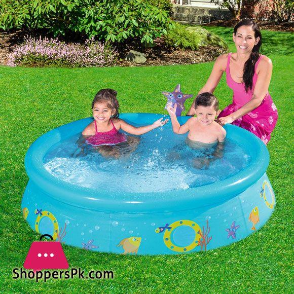 Buy Bestway My First Fast Set Spray Pool 5 Feet X 15 Inch 57326 At Best Price In Pakistan Spray Pool Kid Pool Bestway