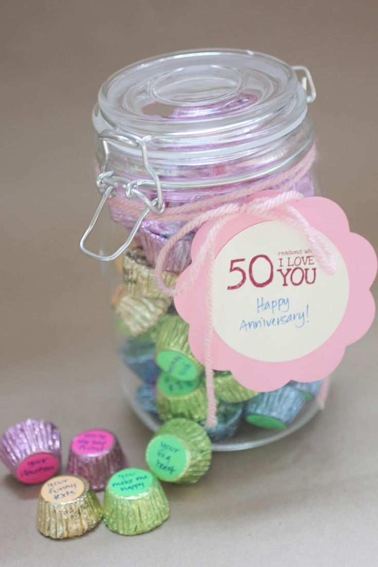 "Repeat Crafter Me: ""50 Reasons Why I love You"" Candy Jar Gift"