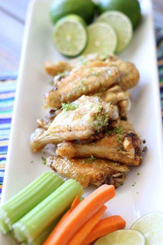 A healthier version of the Buffalo Wild Wings new sauce...these Margarita Lime Baked Chicken Wings will knock your socks off.