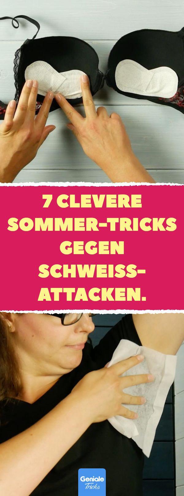 7 clevere Sommer-Tricks gegen Schweißattacken. 7 Tipps und Tricks gegen unangen…