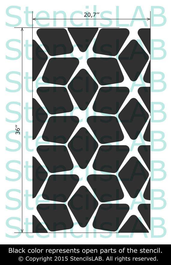 Plantilla de pared - diseño geométrico Esta plantilla de pared fácil de usar es una solución perfecta para tu idea de decoración.  Plantilla