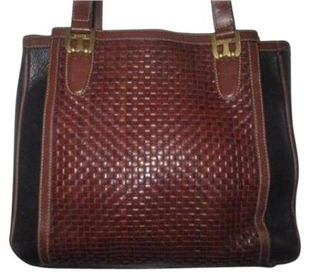 b320981035 Bally Dressy Or Casual Timeless Style Great Condtion Lots Of Pockets Room  Popular Style Satchel in dark brown woven   black leather