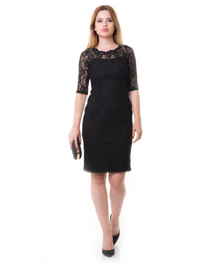 Karaca Bayan Klasik Elbise - Siyah #womensfashion #dress #elbise  #karaca #ciftgeyikkaraca www.karaca.com.tr