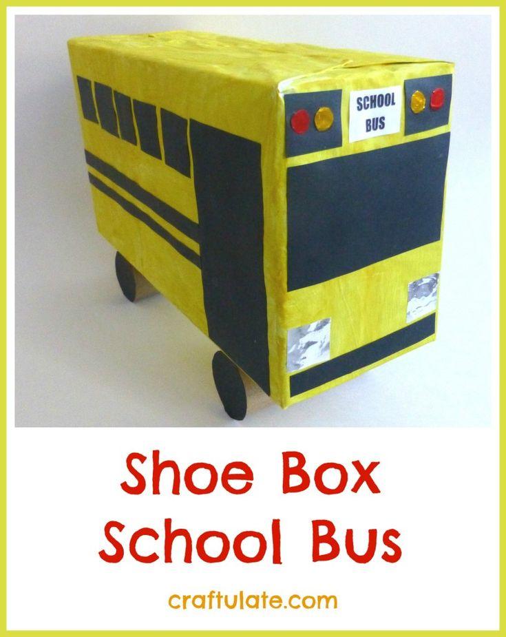 Shoe Box School Bus - Craftulate