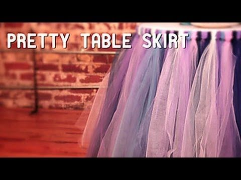 How To Make a No-Sew Tutu Table Skirt - YouTube