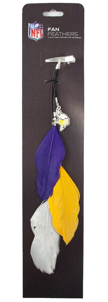 Minnesota Vikings Team Color Feather Hair Clip Special Order