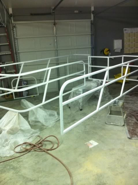 Repaint the rails? | Pontoon boat ideas | Pinterest | Pontoon boating and Deck boats