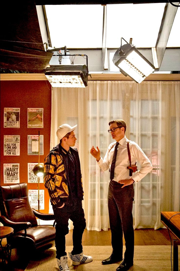 taron egerton & colin firth // kingsman: behind the scenes