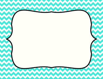 Blank Chevron Behavior Chart- it's blank so I can print and make my own for home. Whoot!