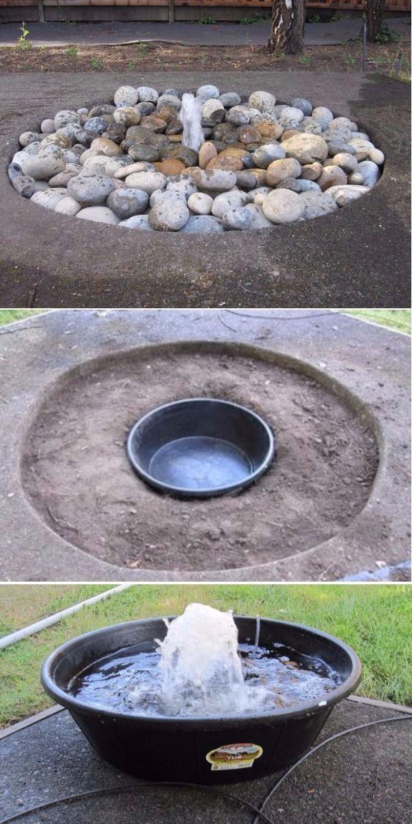 DIY Wasserspiele, zum Ihres Hauses und Gartens schön zu machen