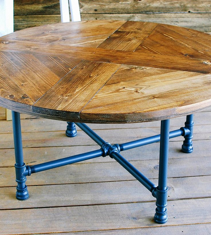 Bithlo Reclaimed Wood Top Round Industrial Coffee Table: Top 25+ Best Round Patio Table Ideas On Pinterest