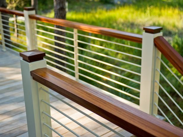 - HGTV Dream Home 2013: Deck Pictures on HGTV rail system, need it. mahogany may be too expensive though, compare to alternate products