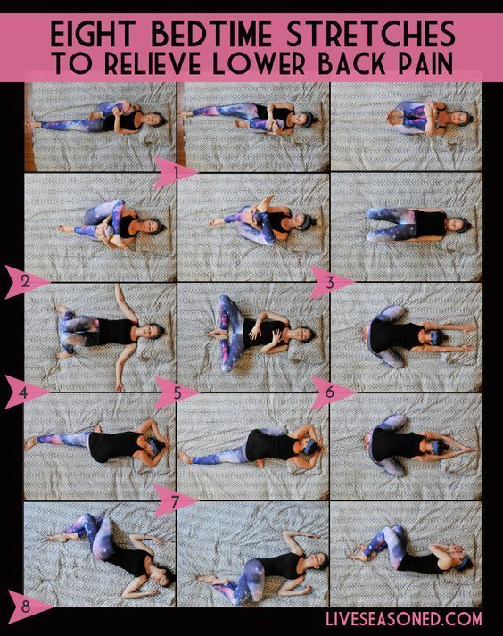 8 bedtime stretches for back pain More ideas from www.pinterest.com/inspireandma…