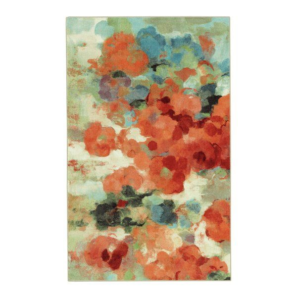 Inspired By Abstract Floral Watercolor Paintings Lush Multicolored Washes Of Contemporary Color Create The Vibrant Floral Area Rugs Green Area Rugs Area Rugs