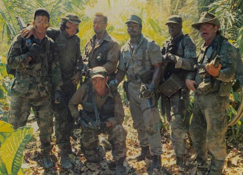 """Dutch & Dillon & Blaine & Billy & Hawkins & Poncho & Mac."" Cast of Predator (1987)"
