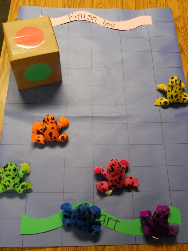 Learning and Teaching With Preschoolers: Jump Frog Jump Color Floor Game