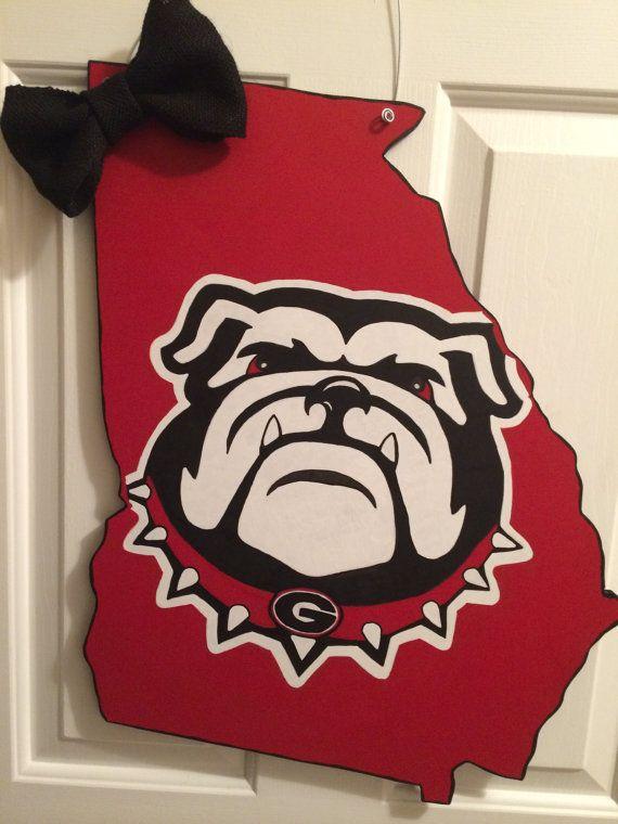 Georgia Bulldog door hanger  on Etsy, $55.00