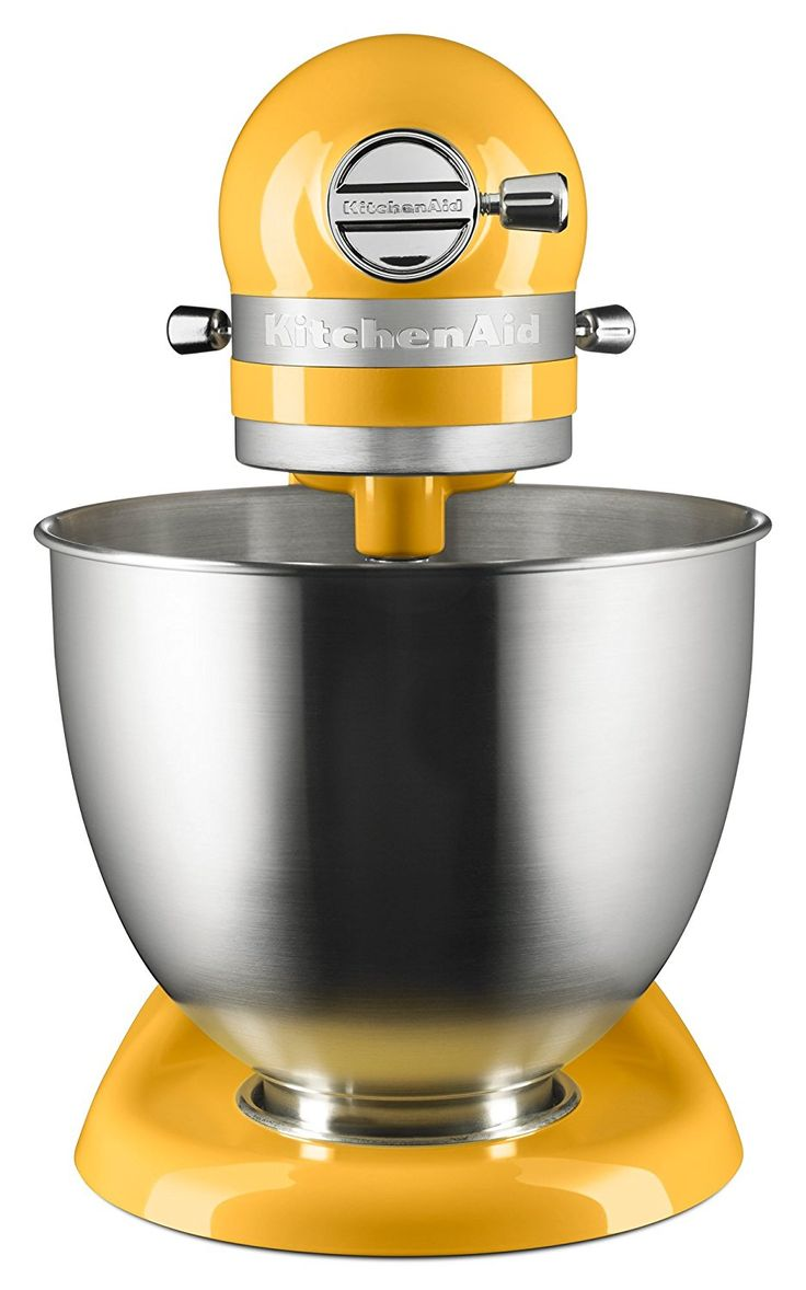 International home housewares show 2013 kitchenaid custom - View Of The Orange Sorbet Mini Mixer From The Front A Yellow Kitchenaid Mixer For