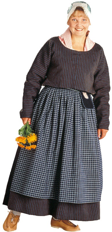 Viitasaaren naisen kansallispuku. Kuva © Suomen käsityön museo