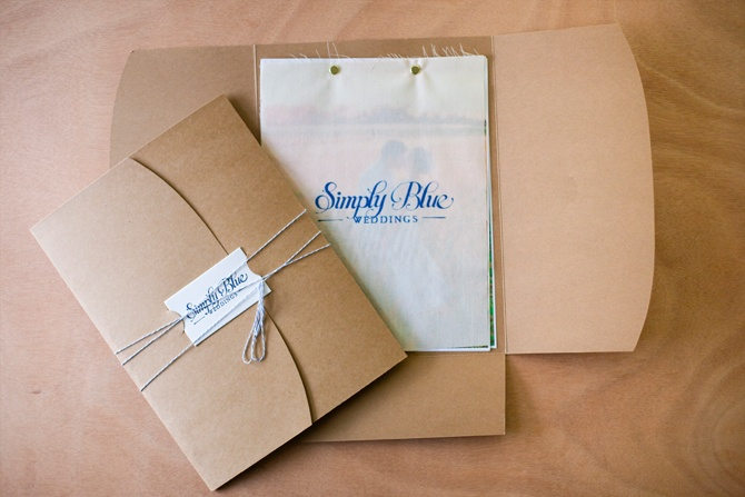 Press kit created for Simply Blue Weddings. Very clever packaging, but still ridiculously simple to put together. Very nice. // Hitch Design Studio
