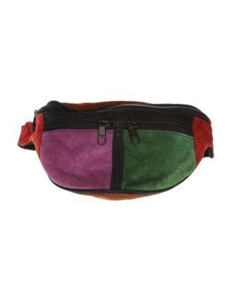 Multicoloured Suede Bumbag
