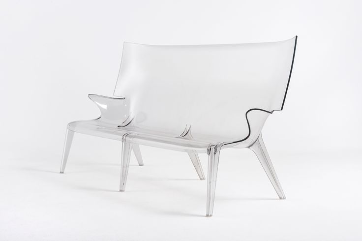 philippe starck creates largest single-mould polycarbonate sofa for kartell