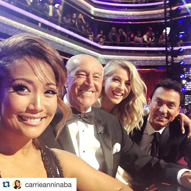 Loved that I had the night off and was able to stop by and see my family at the finale of #DWTS tonight! Love you guys xoxo #Repost @carrieanninaba with @repostapp. ・・・ Mid-show selfie, #finale edition with @juleshough!! #dwts #dwts22 #dancingwiththestars