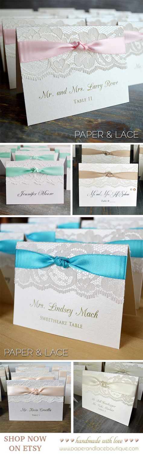 Knot Lace Place Card Lace Escort Card
