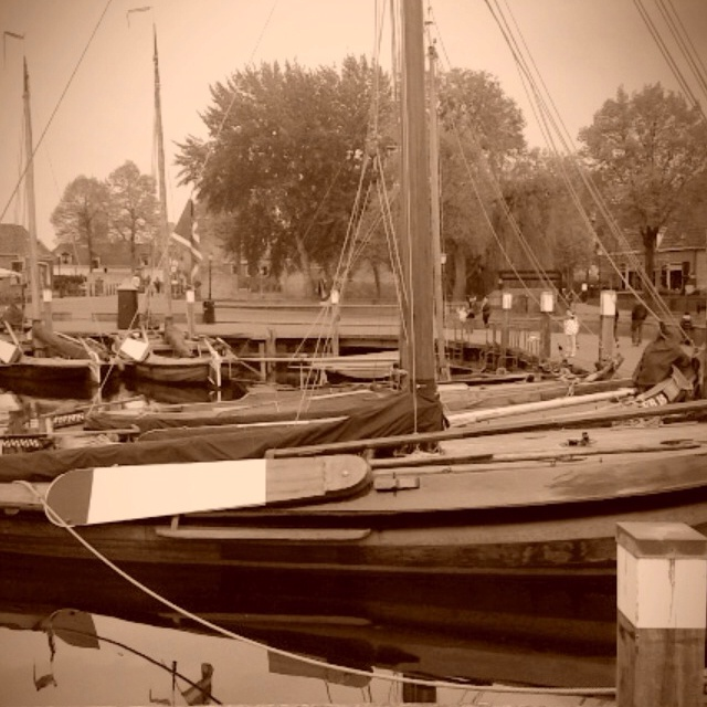 Old fisherships Elburg in Holland