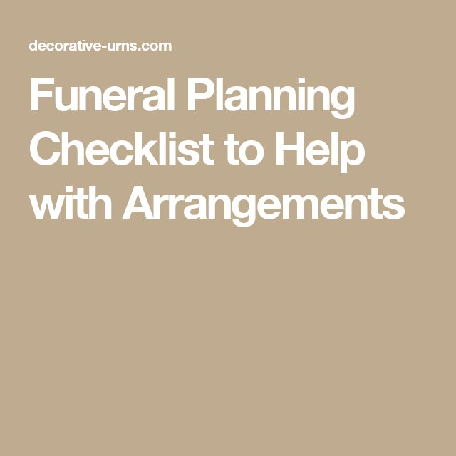 Funeral Planning Checklist To Help With Arrangements