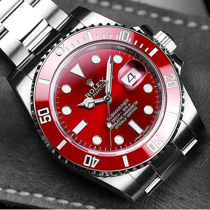 Pre Owned Cars >> Stunning Rolex Submariner with a Red Dial & Bezel ...