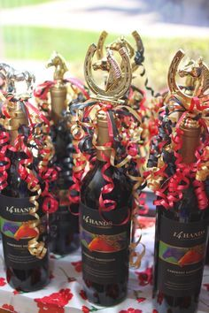 Kentucky Derby Party - wine trophy - for kentucky derby game prize