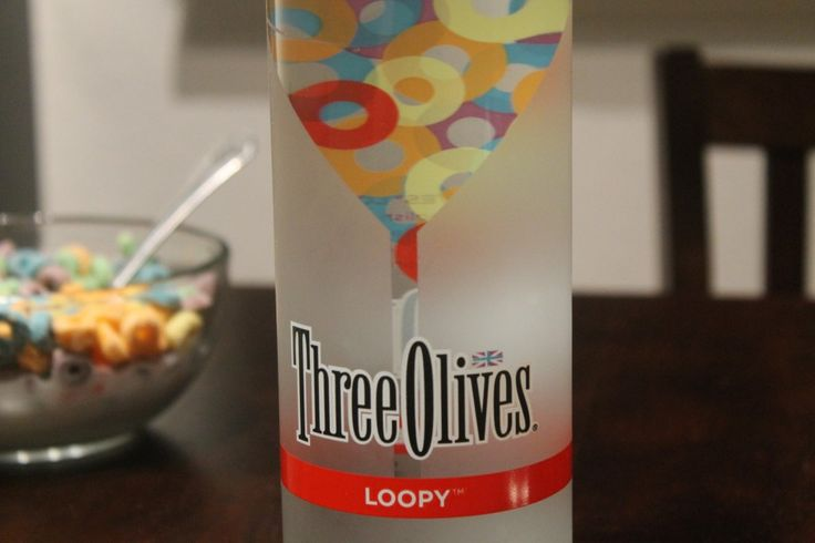 Three Olives' Loopy (Fruit Loop flavored) Vodka - I'd try it. Plus cocktail recipes. #drink