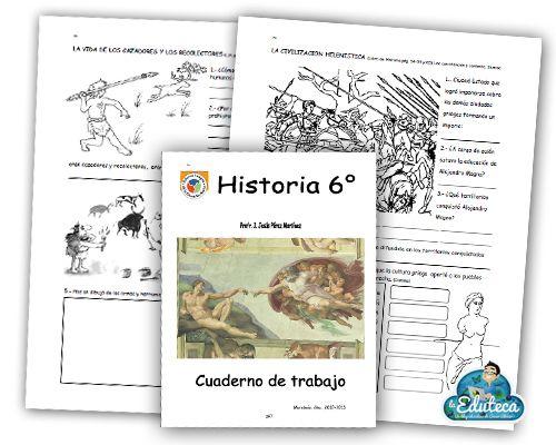 RECURSOS PRIMARIA | Cuadernillo de actividades de Historia para 6º de Primaria ~ La Eduteca