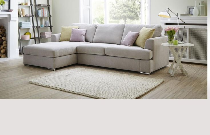 Right Hand Facing 2 Piece Corner Deluxe Sofa Bed Freya | DFS can change feet to wood and colour to blue