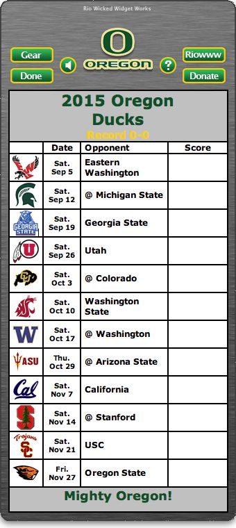 BACK OF WIDGET - Free 2015 Oregon Ducks Football Schedule Widget for Mac OS X - Mighty Oregon! -  http://riowww.com/teamPages/Oregon_Ducks.htm