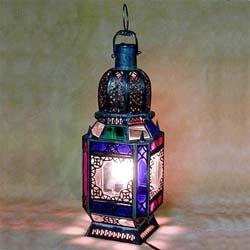 Overstock.com: Marrakech Glass Lantern (Morocco) : Home Decor