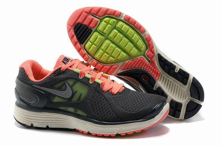 Nike LunarEclipse Charcoal Sko Damer Grey Salmon Pink 22925