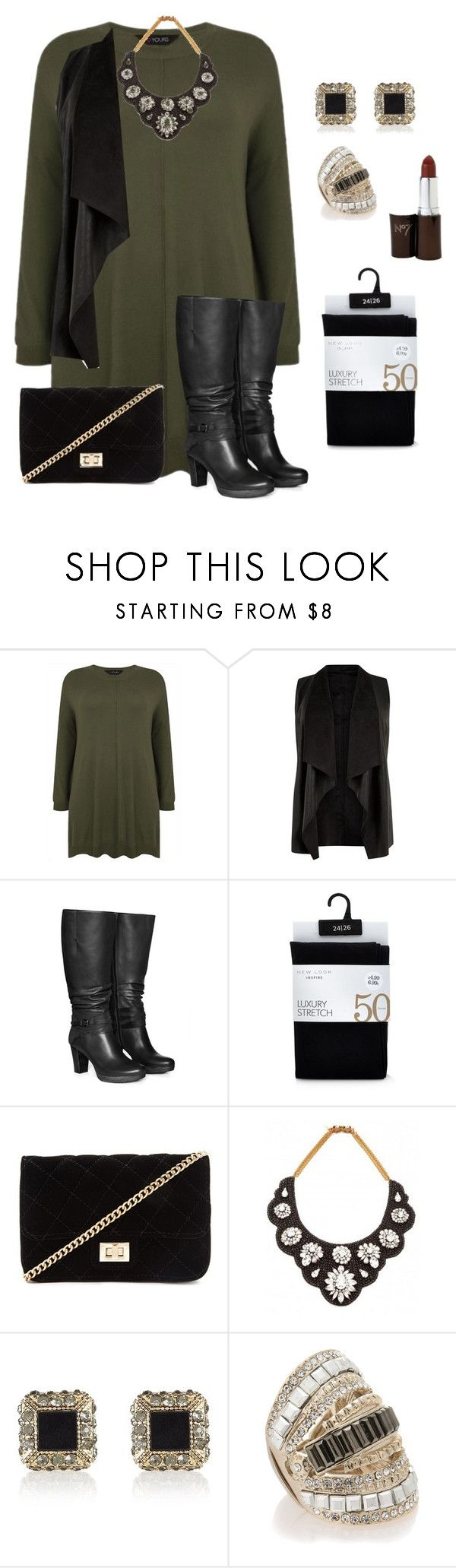 """""""plus size fall/winter chic and edgy"""" by kristie-payne ❤ liked on Polyvore featuring Jilsen Quality Boots, Forever 21, Darya London, River Island and Oasis"""