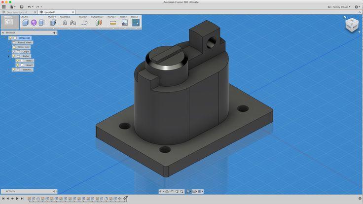 Fusion 360 tutorial: 3D printed Door lock Arduino project