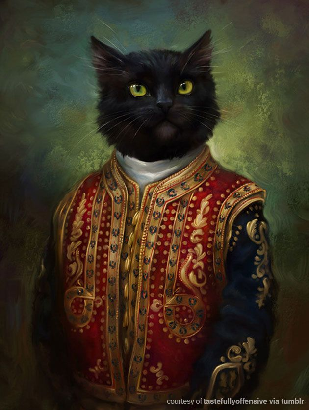 Classical cat portrait