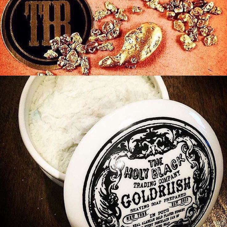 Do you want to know what's crazy? Gold rush so was the first limited-edition shaving soap we ever did. We put Real Alaskan placer nuggets in every pot but in one pot there is a huge gold nugget that has yet to turn up. Just some food for thought if you ow