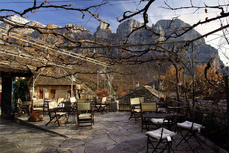 Coffee shops of Papigo, Ioannina, Epirus_ Greece