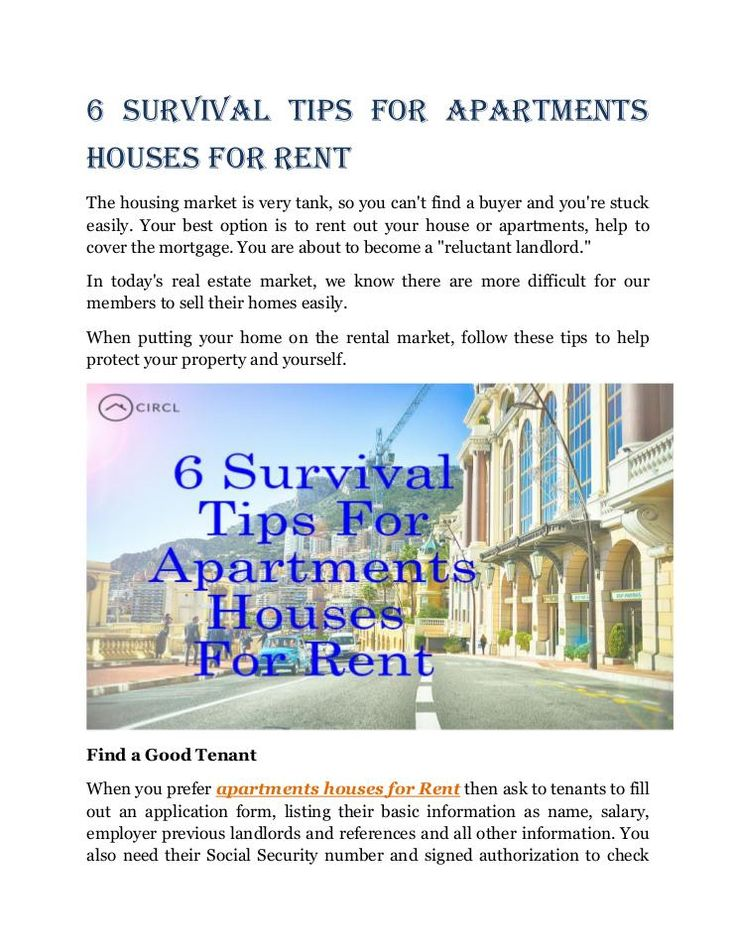 6 Survival Tips For Apartments Houses For Rent