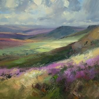 British Artist Rex PRESTON - August Moorland - this isn't just colour fix, its a native colour fix, a relaxing into the colours I grew up with that are so in my heart.